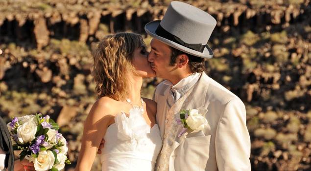Свадебная церемония на дне Большого Каньона